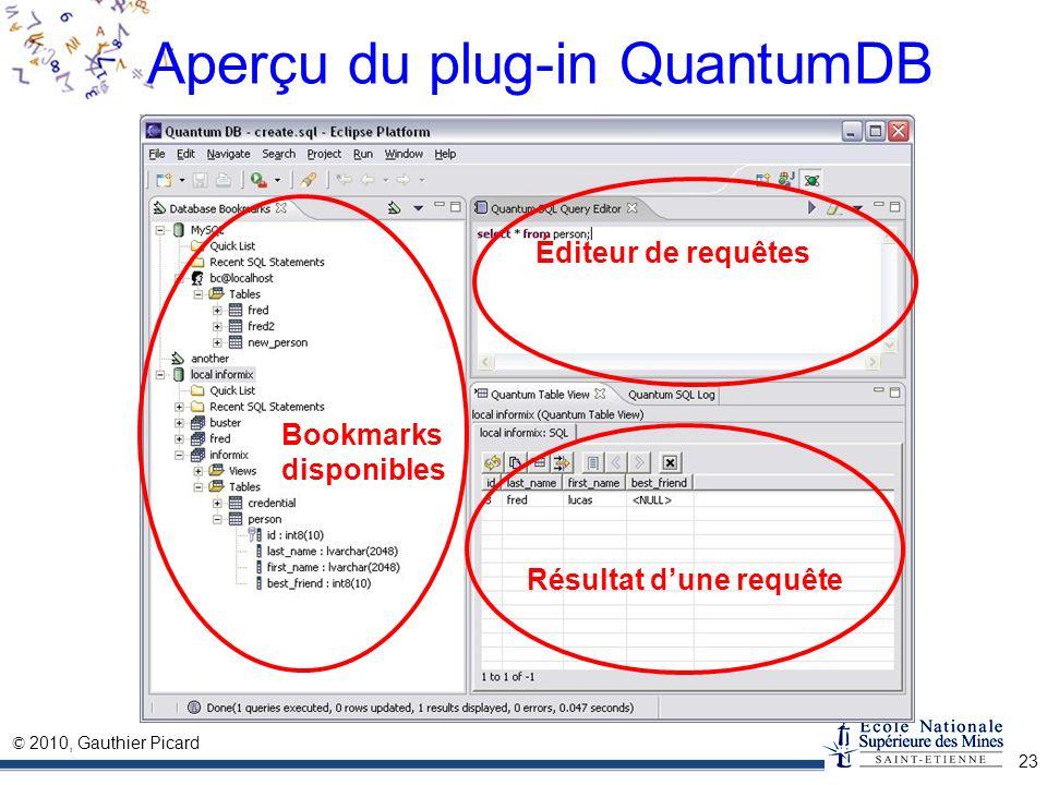 Aperçu du plug-in QuantumDB
