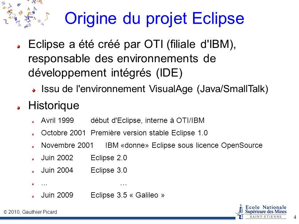 Origine du projet Eclipse