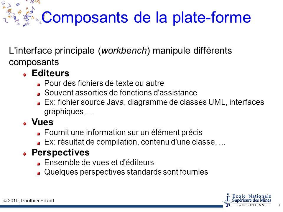 Composants de la plate-forme