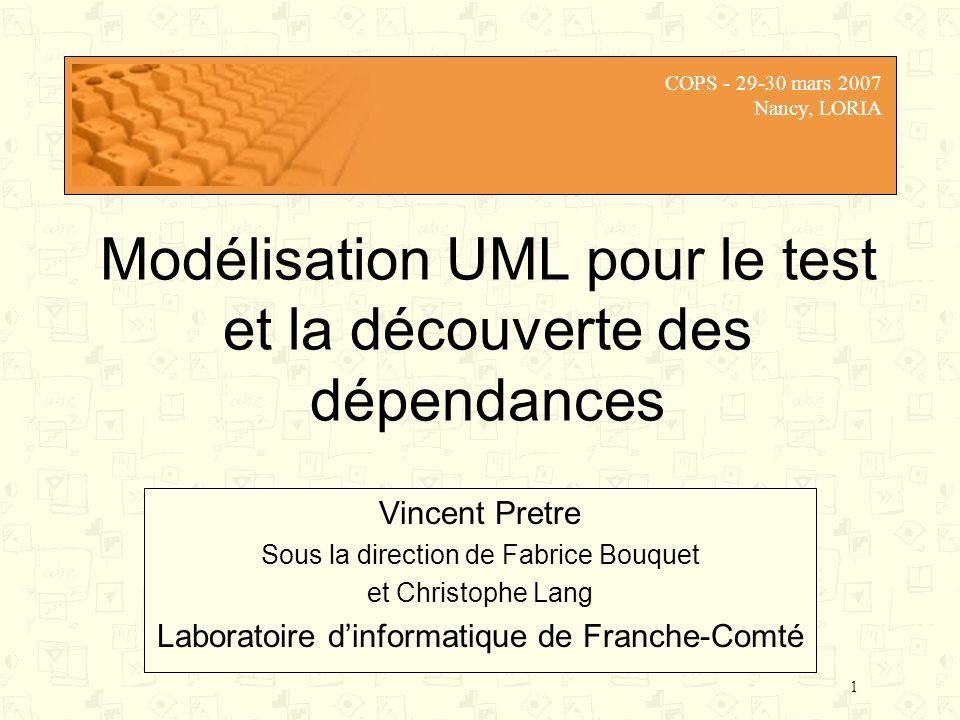 Modélisation UML pour le test et la découverte des dépendances