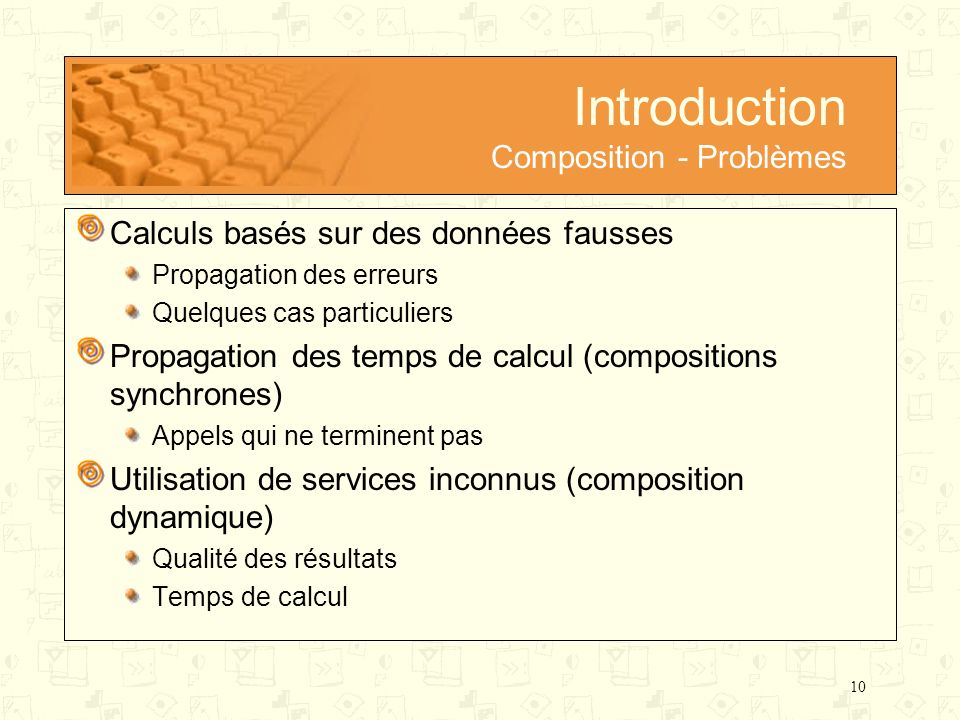 Introduction Composition - Problèmes