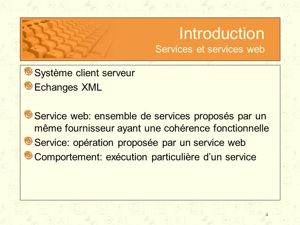 Introduction Services et services web