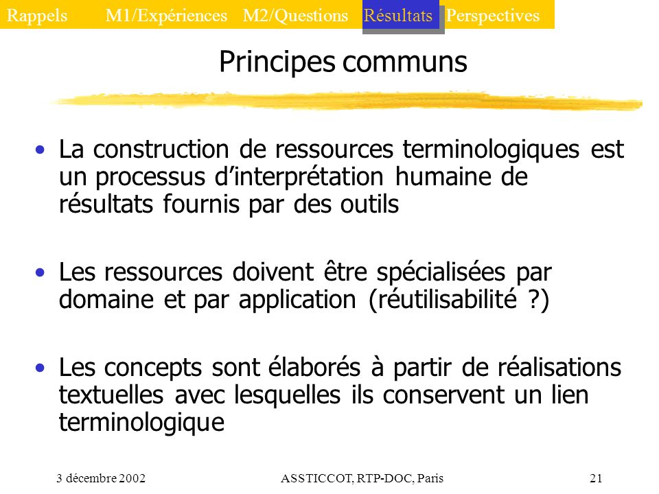 ASSTICCOT, RTP-DOC, Paris
