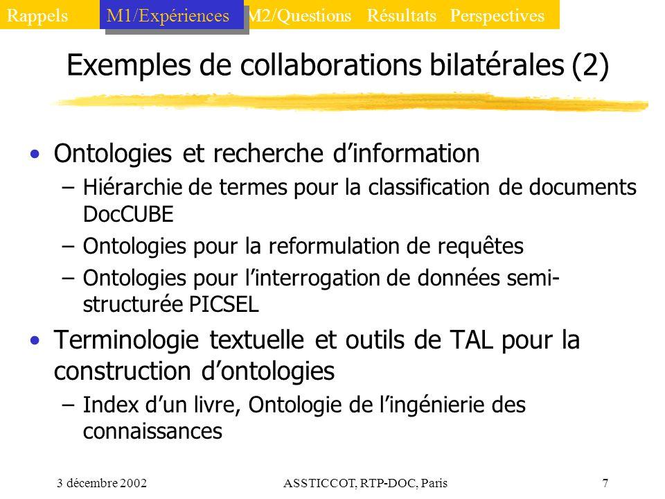 Exemples de collaborations bilatérales (2)