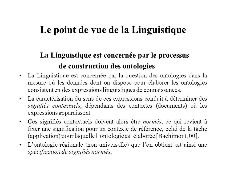 Le point de vue de la Linguistique