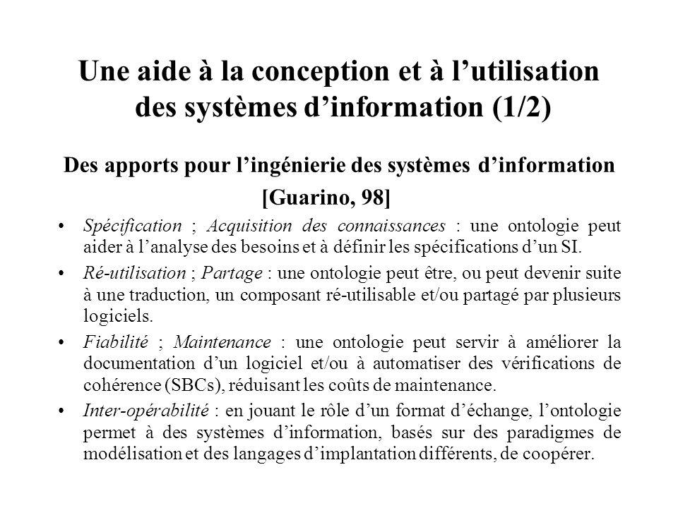 Une aide à la conception et à l'utilisation des systèmes d'information (1/2)