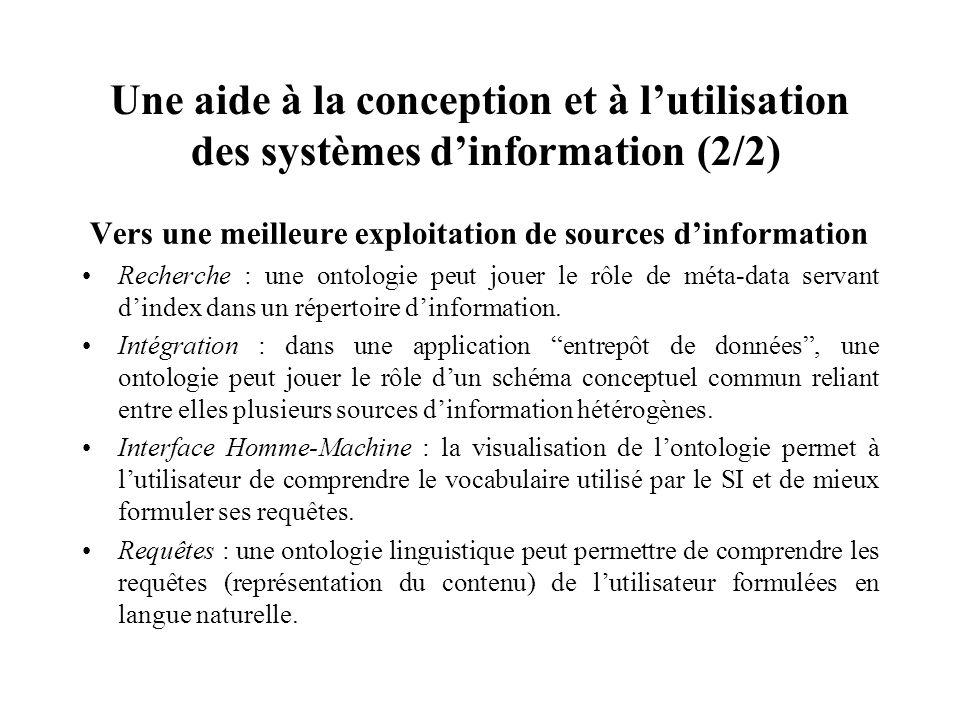 Une aide à la conception et à l'utilisation des systèmes d'information (2/2)