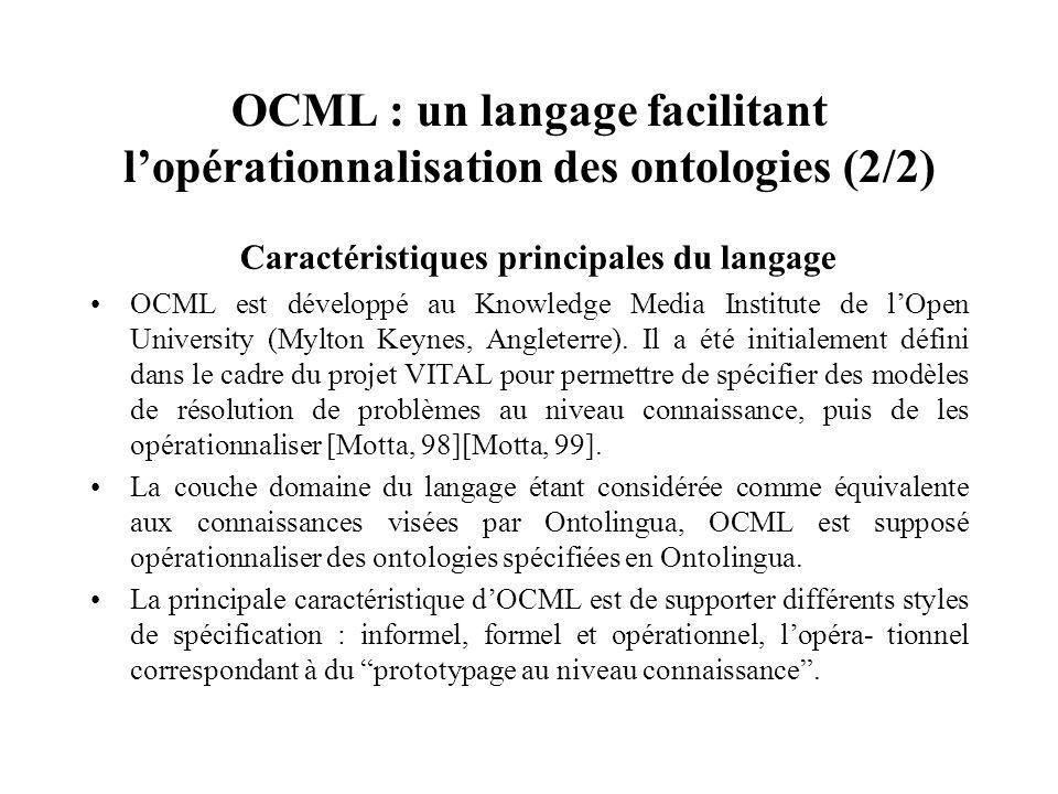 OCML : un langage facilitant l'opérationnalisation des ontologies (2/2)