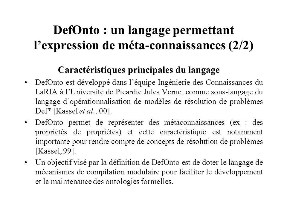 DefOnto : un langage permettant l'expression de méta-connaissances (2/2)