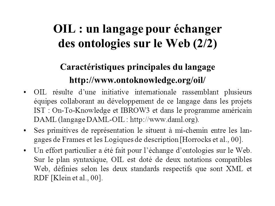 OIL : un langage pour échanger des ontologies sur le Web (2/2)