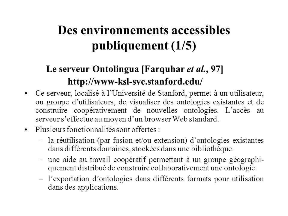 Des environnements accessibles publiquement (1/5)