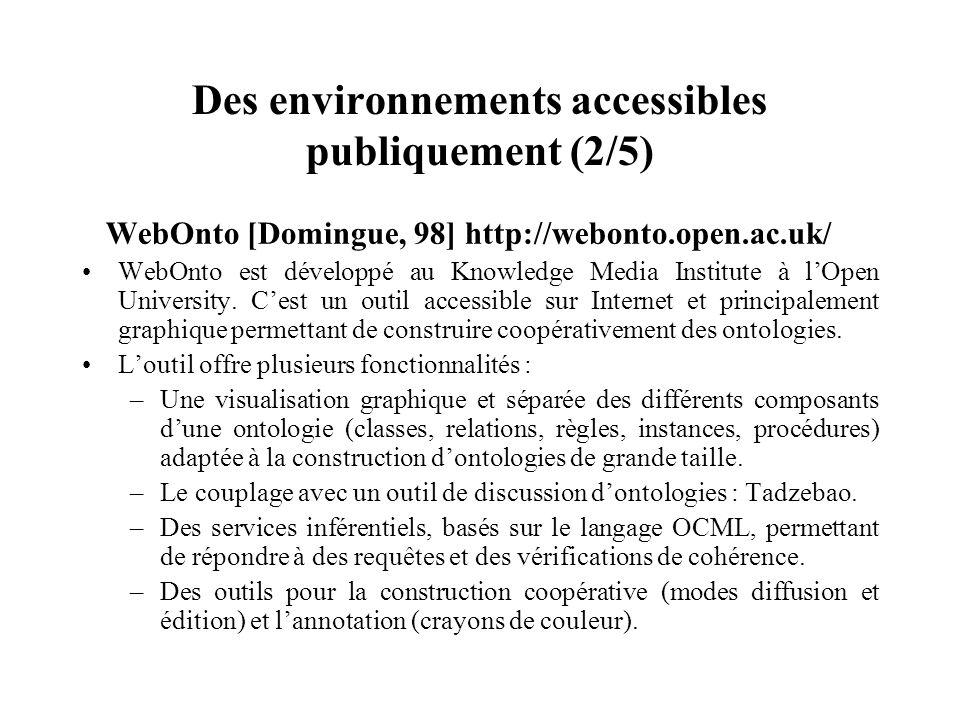 Des environnements accessibles publiquement (2/5)