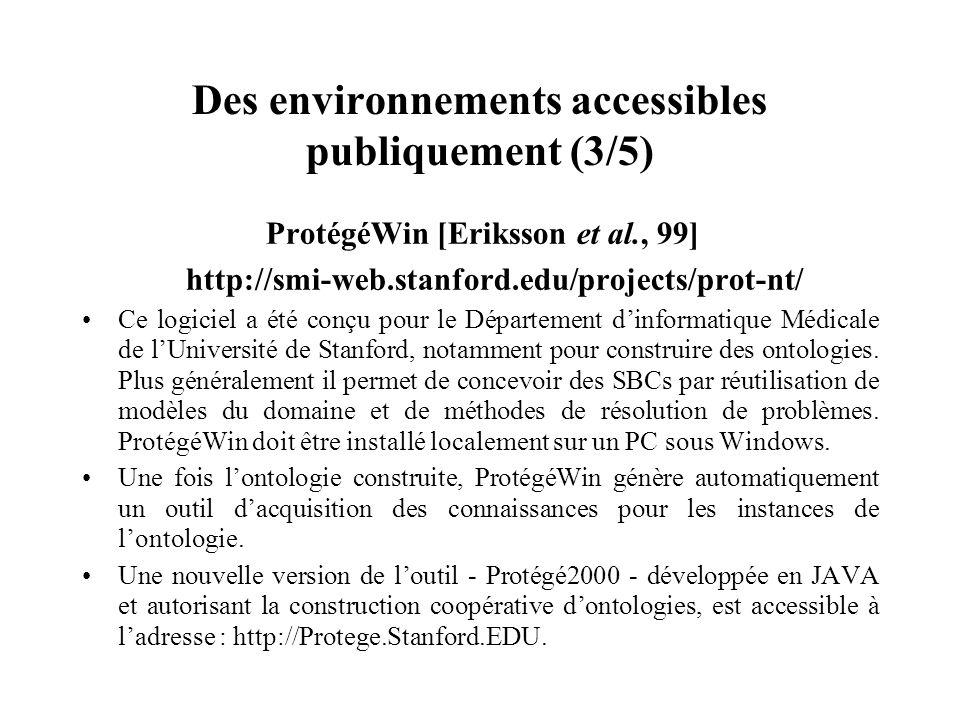 Des environnements accessibles publiquement (3/5)