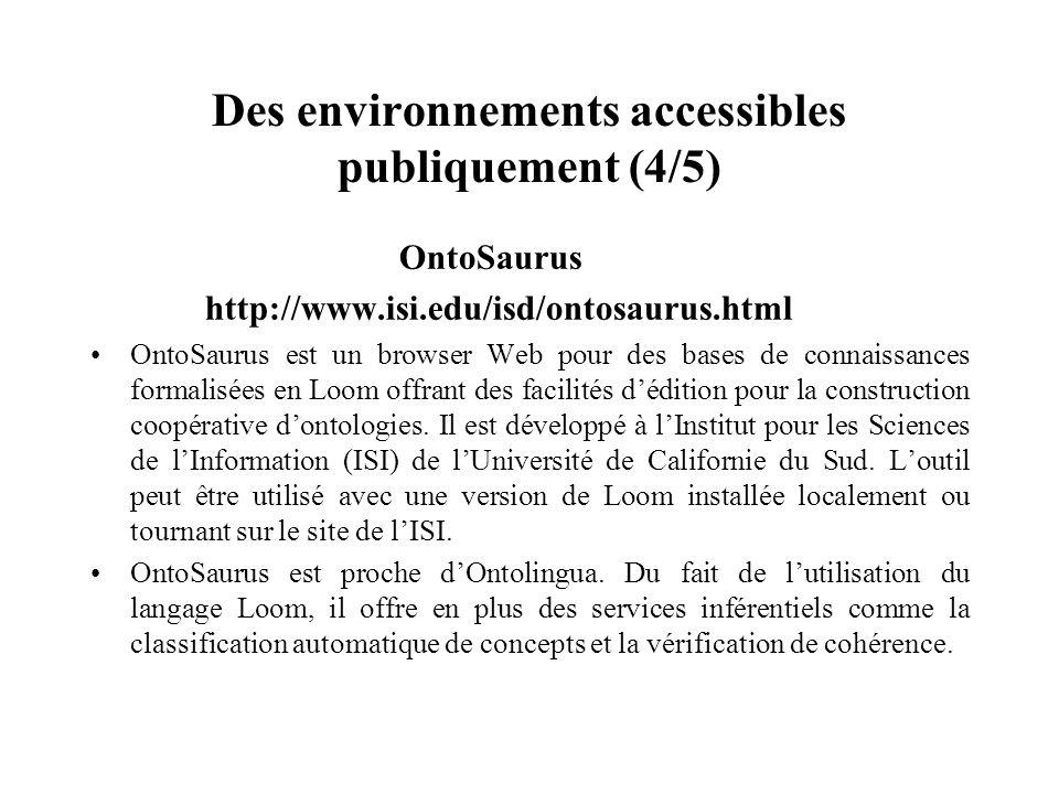 Des environnements accessibles publiquement (4/5)