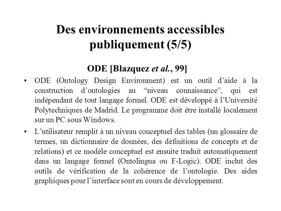 Des environnements accessibles publiquement (5/5)