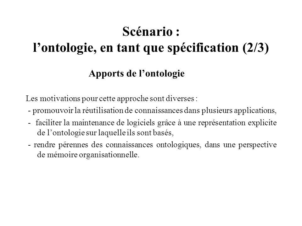 Scénario : l'ontologie, en tant que spécification (2/3)
