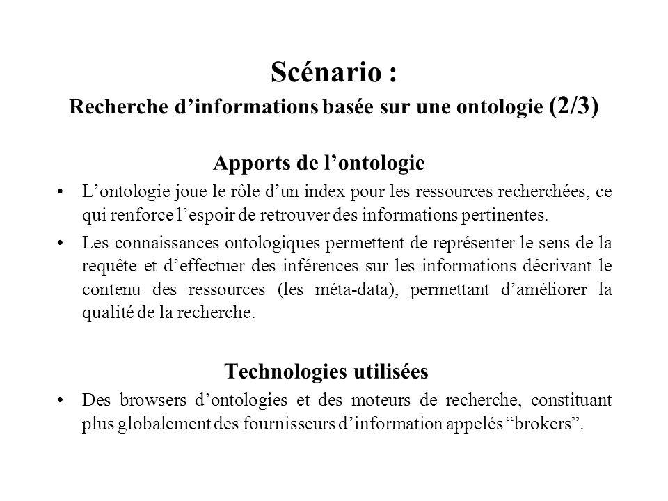 Scénario : Recherche d'informations basée sur une ontologie (2/3)