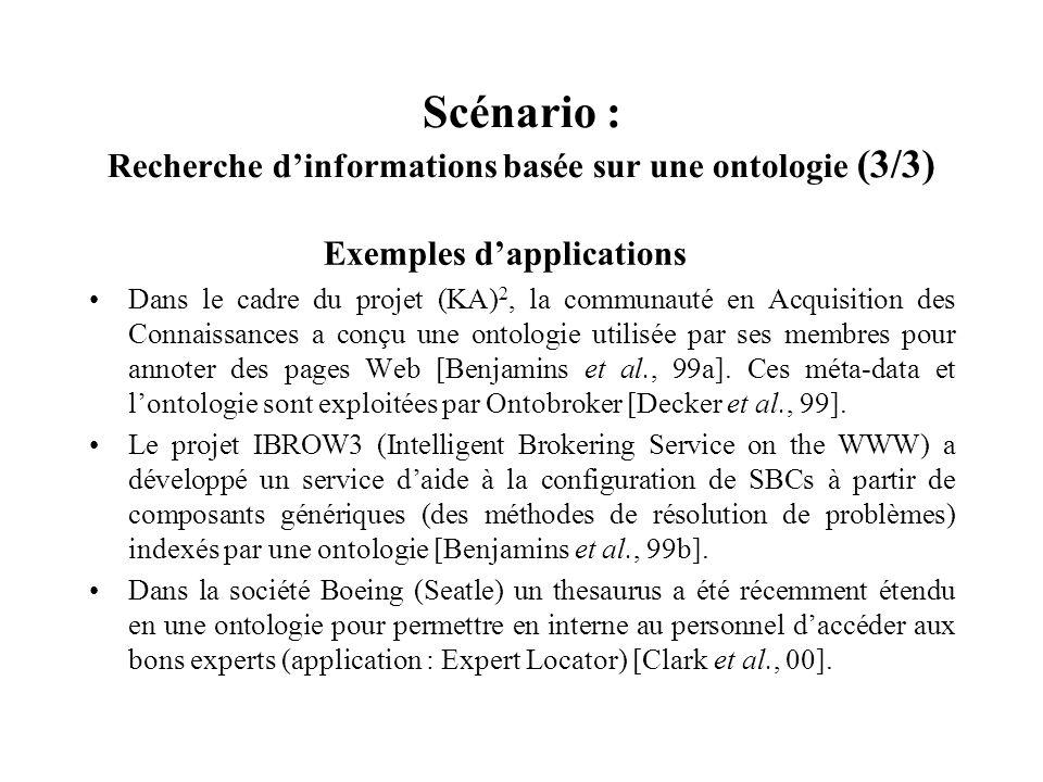 Scénario : Recherche d'informations basée sur une ontologie (3/3)