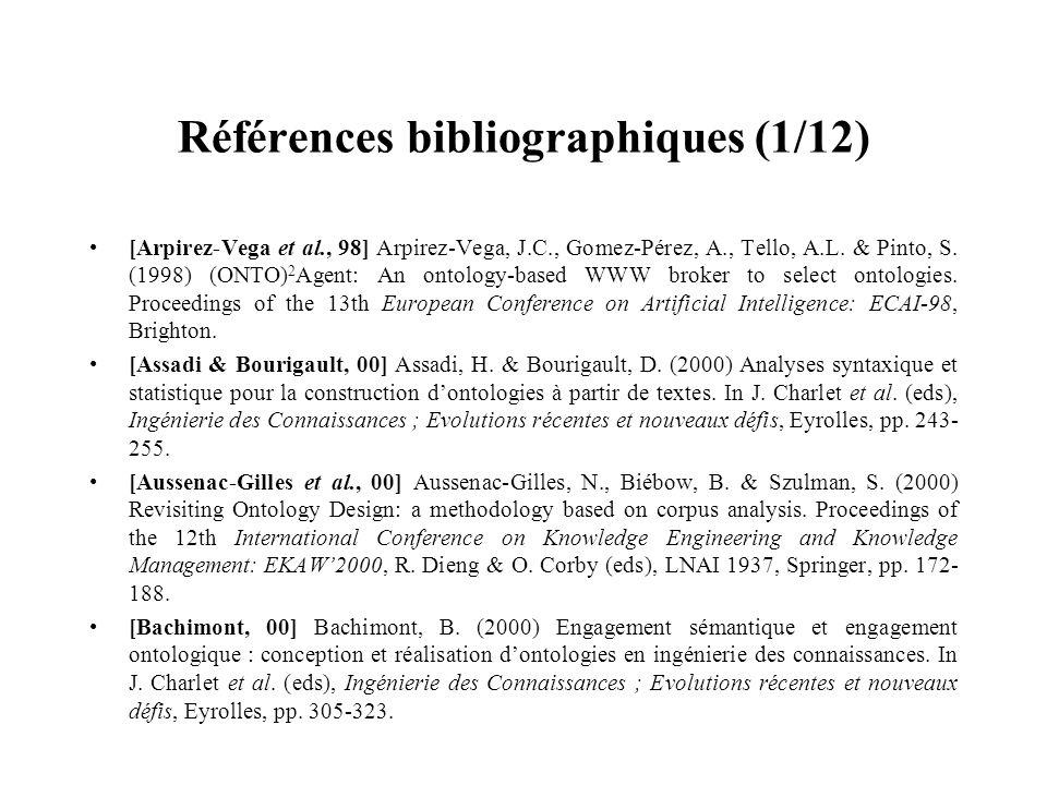 Références bibliographiques (1/12)