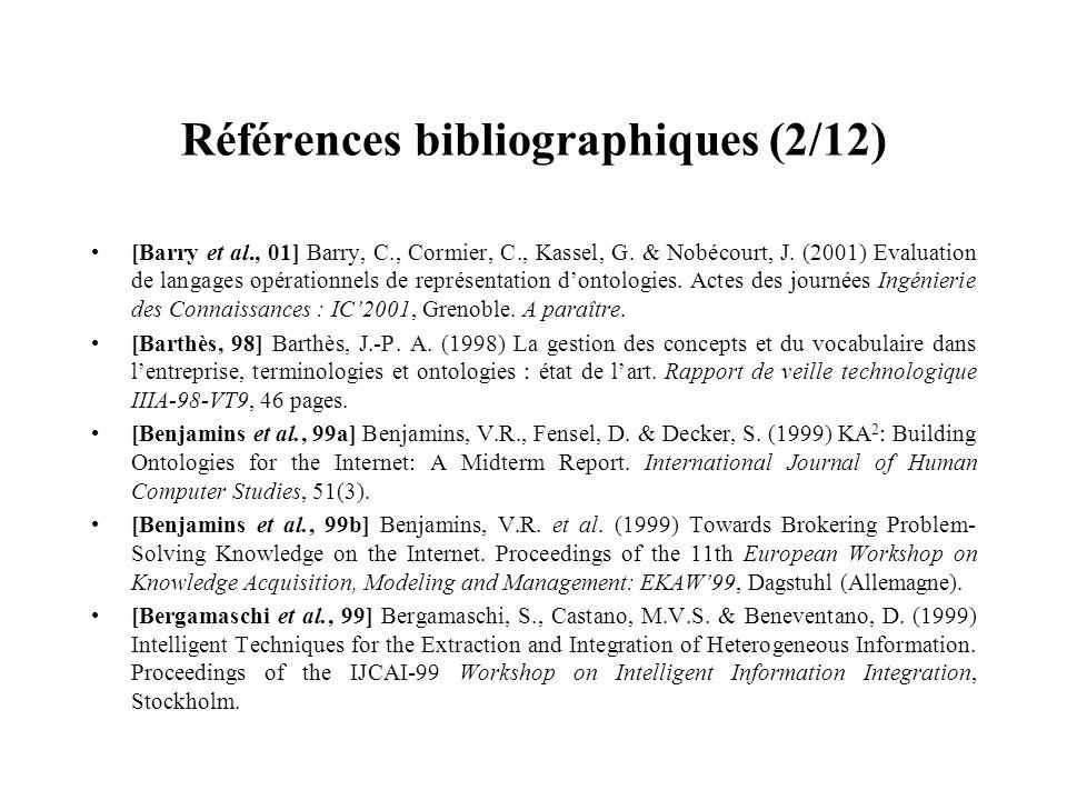 Références bibliographiques (2/12)