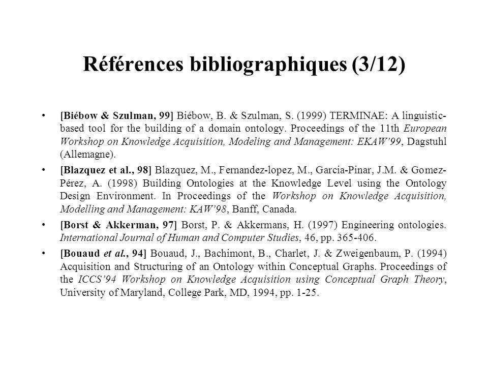 Références bibliographiques (3/12)