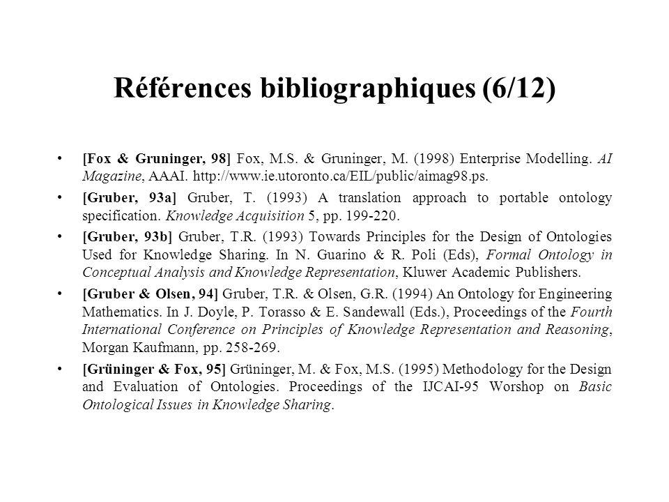 Références bibliographiques (6/12)