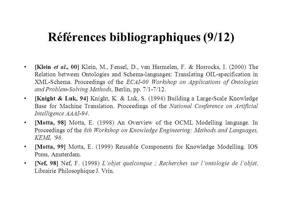 Références bibliographiques (9/12)