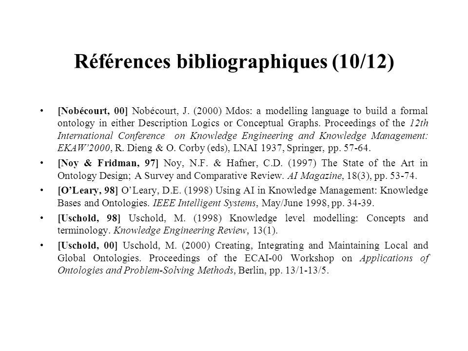 Références bibliographiques (10/12)