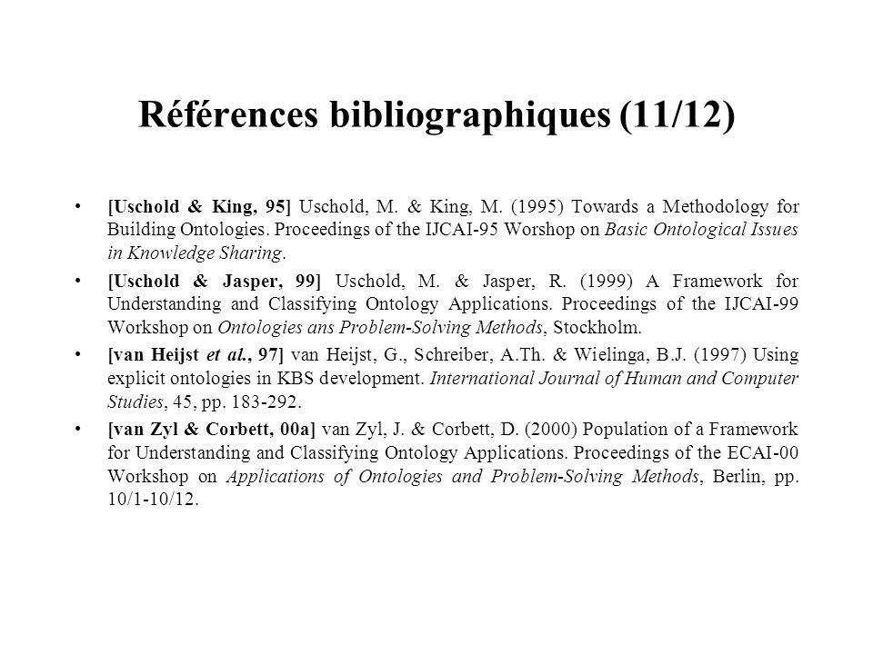 Références bibliographiques (11/12)