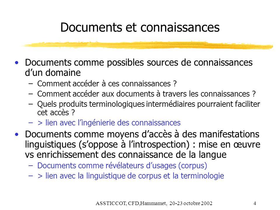 Documents et connaissances