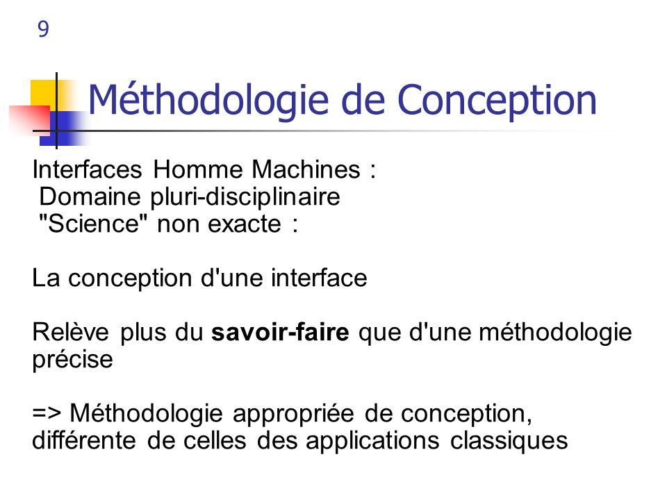 Méthodologie de Conception