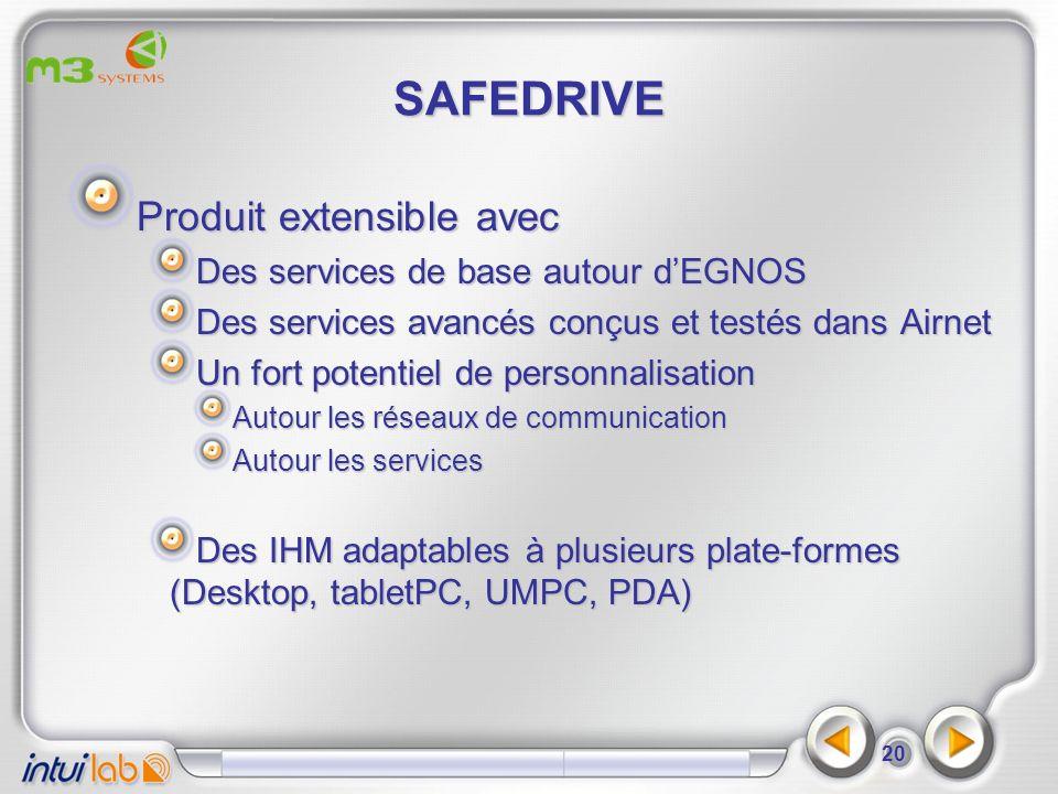 SAFEDRIVE Produit extensible avec Des services de base autour d'EGNOS