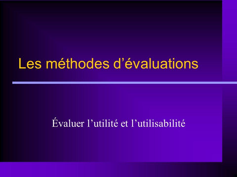 Les méthodes d'évaluations