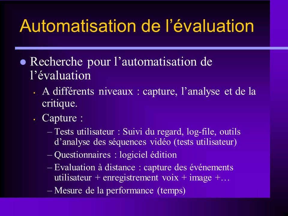 Automatisation de l'évaluation
