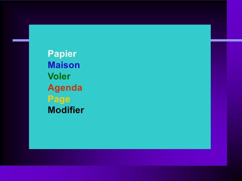 Papier Maison Voler Agenda Page Modifier