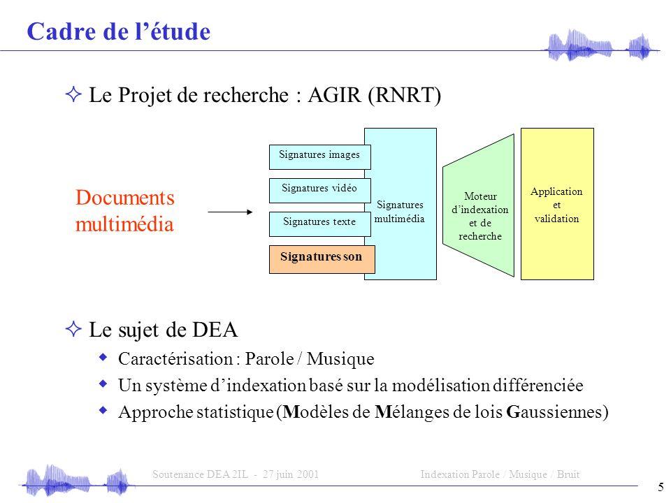 Cadre de l'étude Le Projet de recherche : AGIR (RNRT) Documents