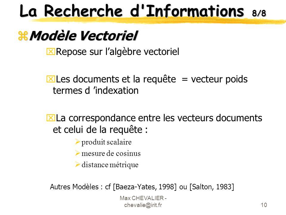 La Recherche d Informations 8/8