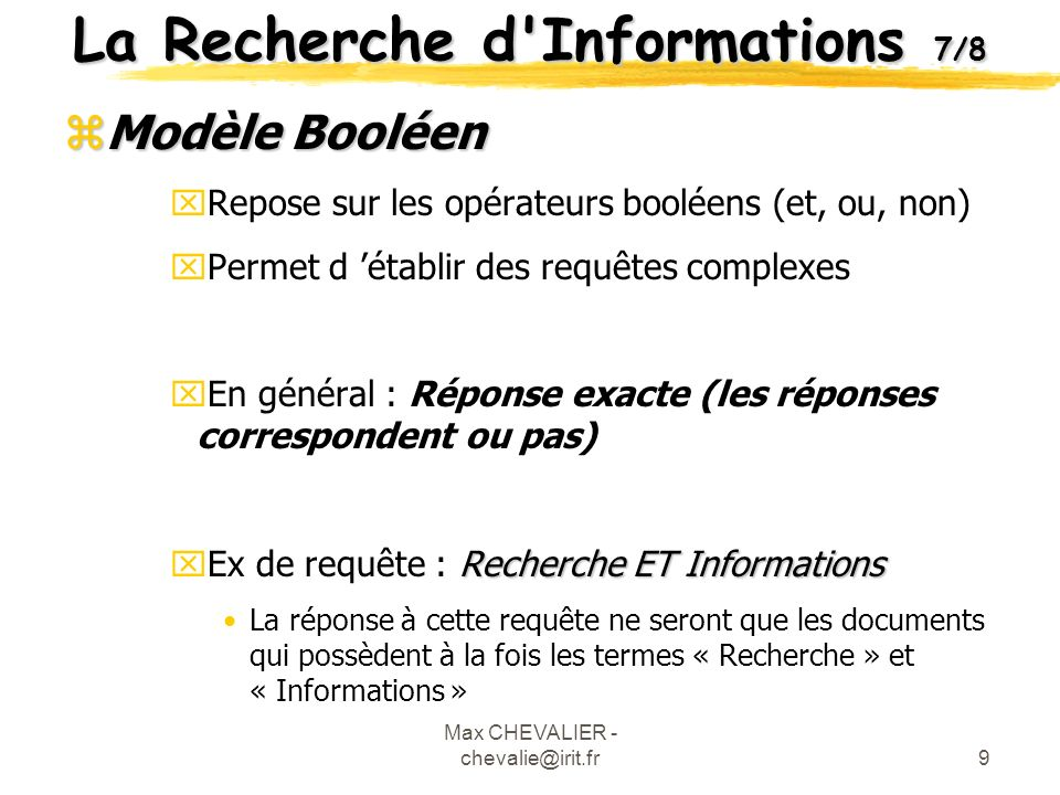 La Recherche d Informations 7/8