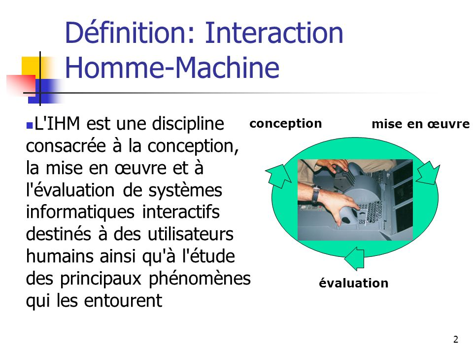 Définition: Interaction Homme-Machine