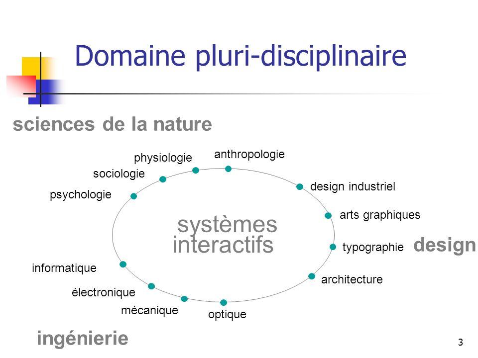 Domaine pluri-disciplinaire