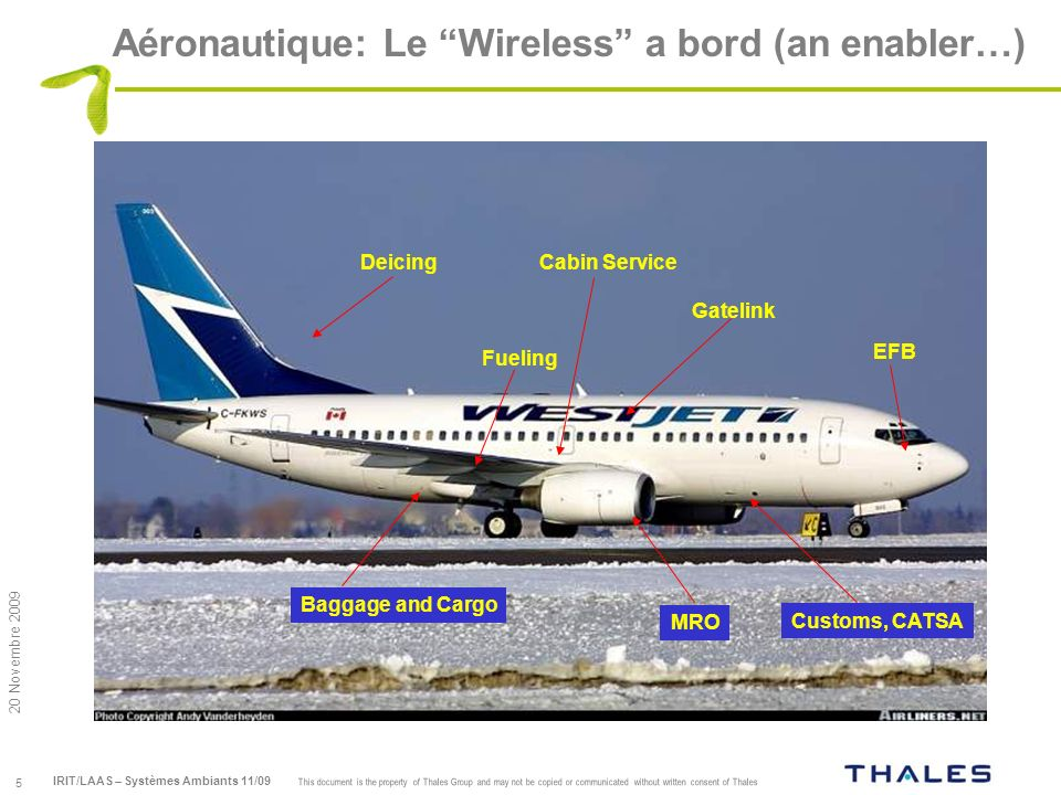 Aéronautique: Le Wireless a bord (an enabler…)
