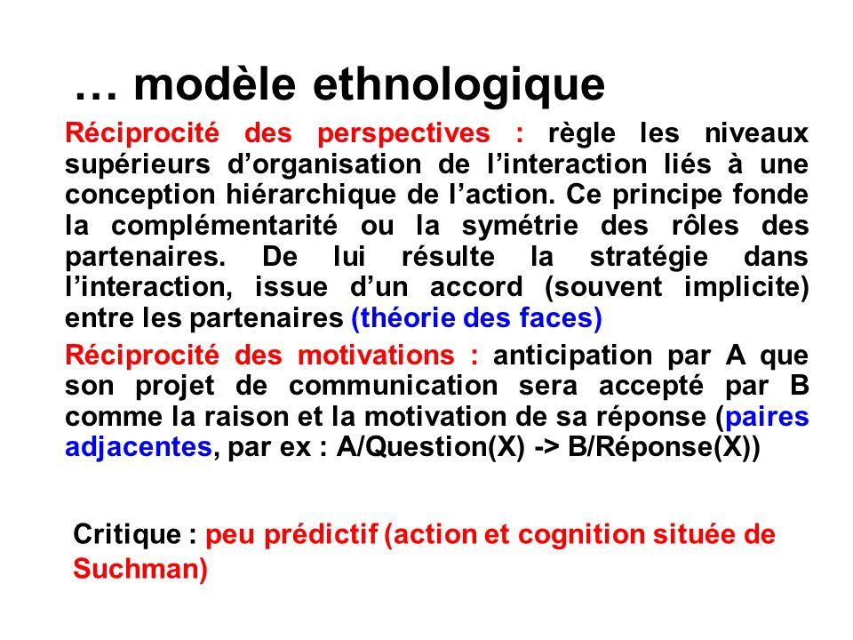 … modèle ethnologique