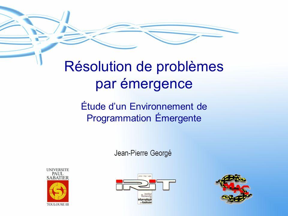 Résolution de problèmes par émergence Étude d'un Environnement de Programmation Émergente