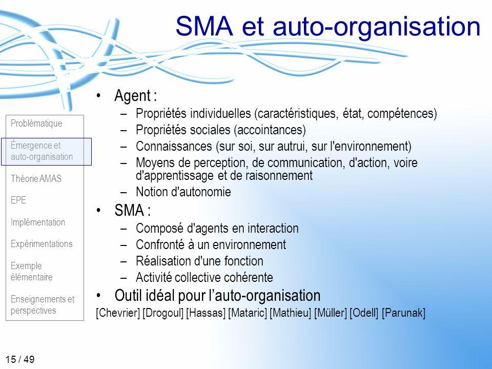 SMA et auto-organisation