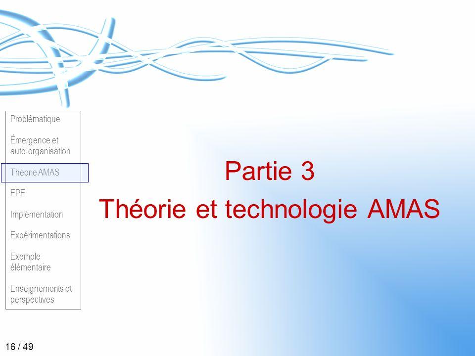 Théorie et technologie AMAS