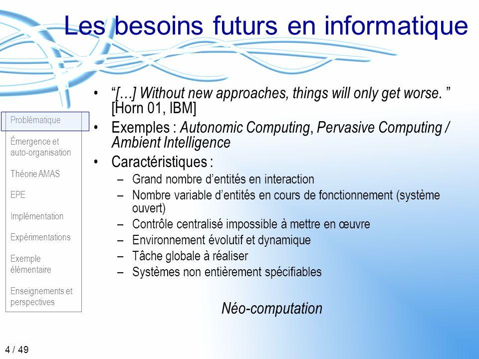 Les besoins futurs en informatique