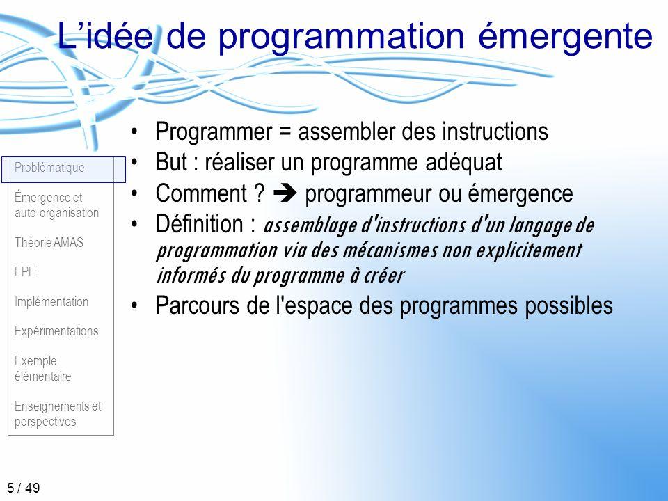 L'idée de programmation émergente