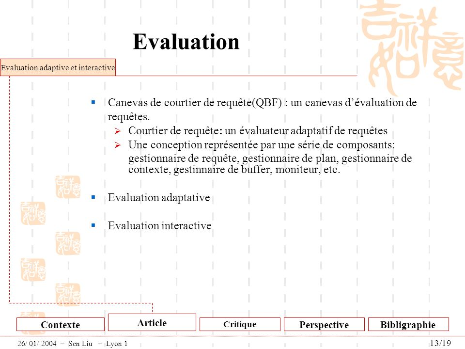 Evaluation adaptive et interactive