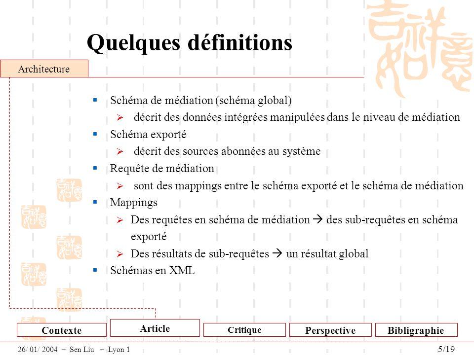 Quelques définitions Schéma de médiation (schéma global)