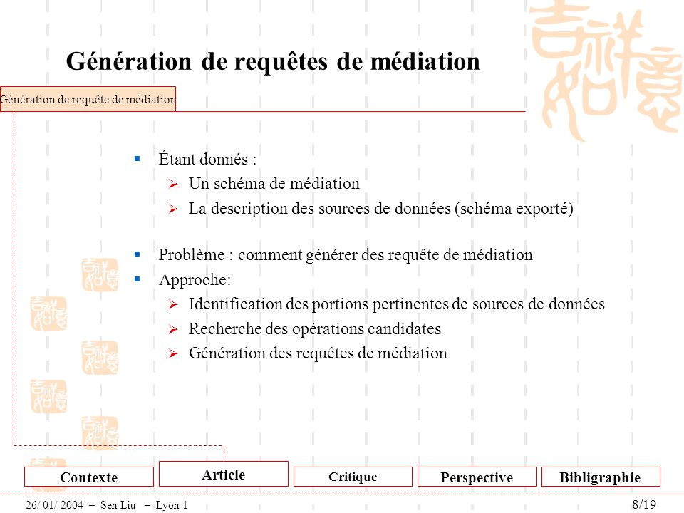 Génération de requêtes de médiation